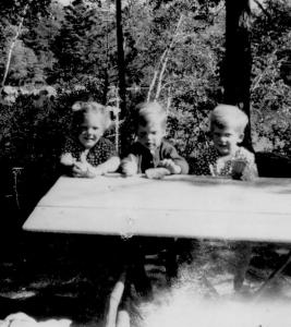 APG - 1949 summer picture of 3 of us