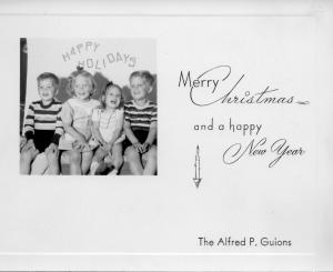 APG - 1950 Christmas card