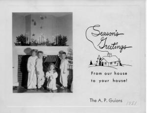 APG - 1951 Christmas card