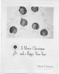 APG - 1952 Christmas card
