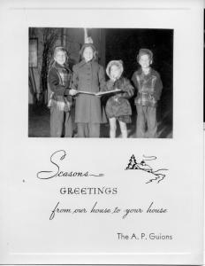 APG - 1953 Christmas card