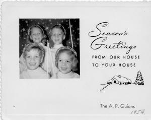 APG - 1954 Christmas Card
