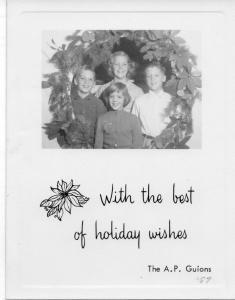 APG - 1957 Christmas Card