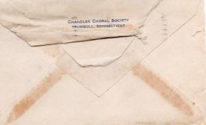 CDG - Valentine Card Envelope from Chandler Chorus - Feb., 1941 - back