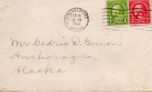 CDG - Valentine Card envelope from Chandler Chorus - Feb., 1941 - front