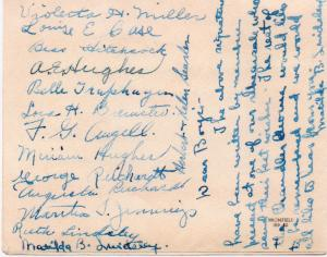 CDG - Valentine Card from the Chandler Chorus - Feb., 1941 - back