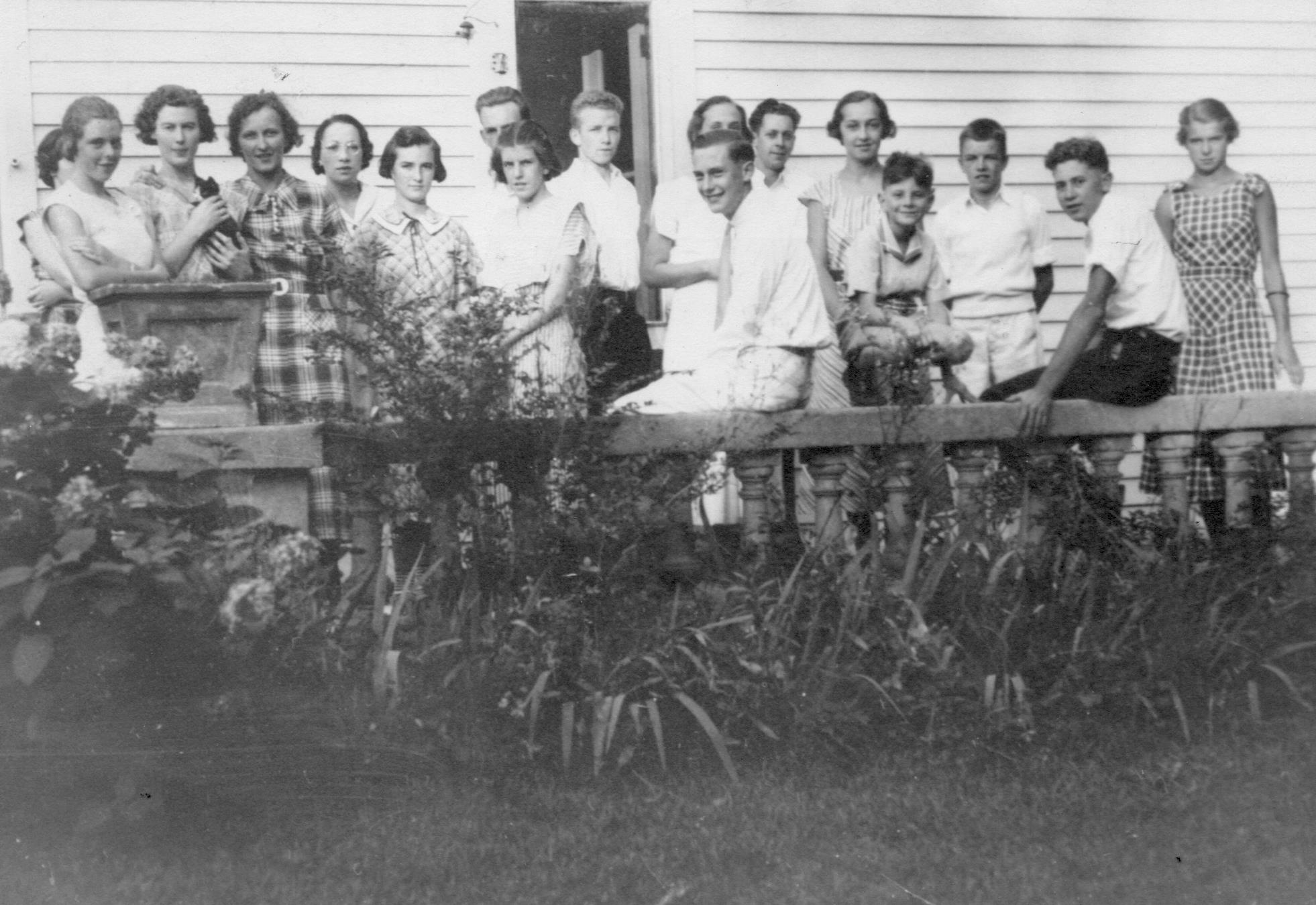 The Gang at the Trumbull House - 1934