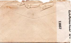 DBG - My Poor Salacious Siwach - envelope back - Aug., 1942