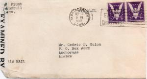 CDG - Barbara Plumb Writes to Ced - Sept., 1942 - front