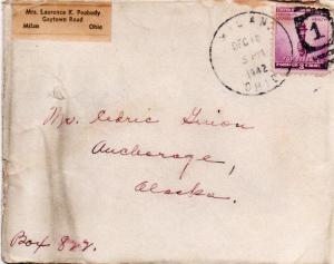 CDG - Christmas Card envelope from Larry Peabody, Dec., 1942
