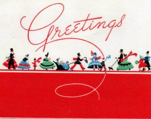 CDG - Christmas card front from Larry Peabody - Dec., 1942