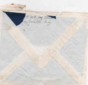 Grandma Peabody - letter to Ced - envelope back - June, 1941