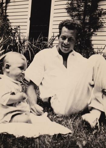 EWGZ - Dan and Raymond, Jr. at baptism - 1939