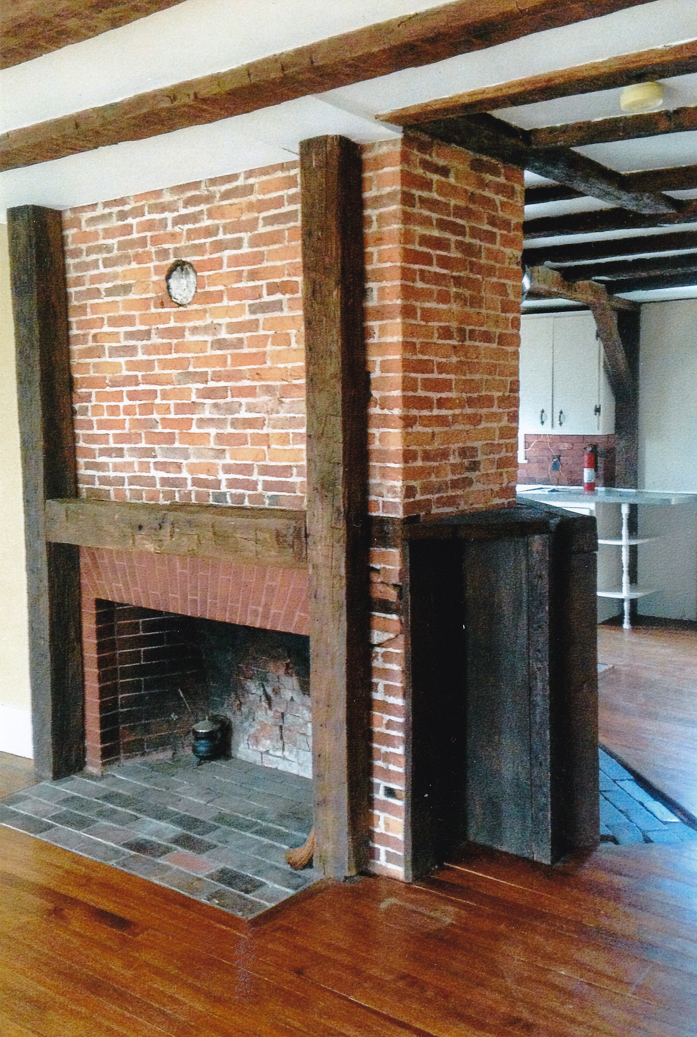 Trumbull House - 1756 living room fireplace