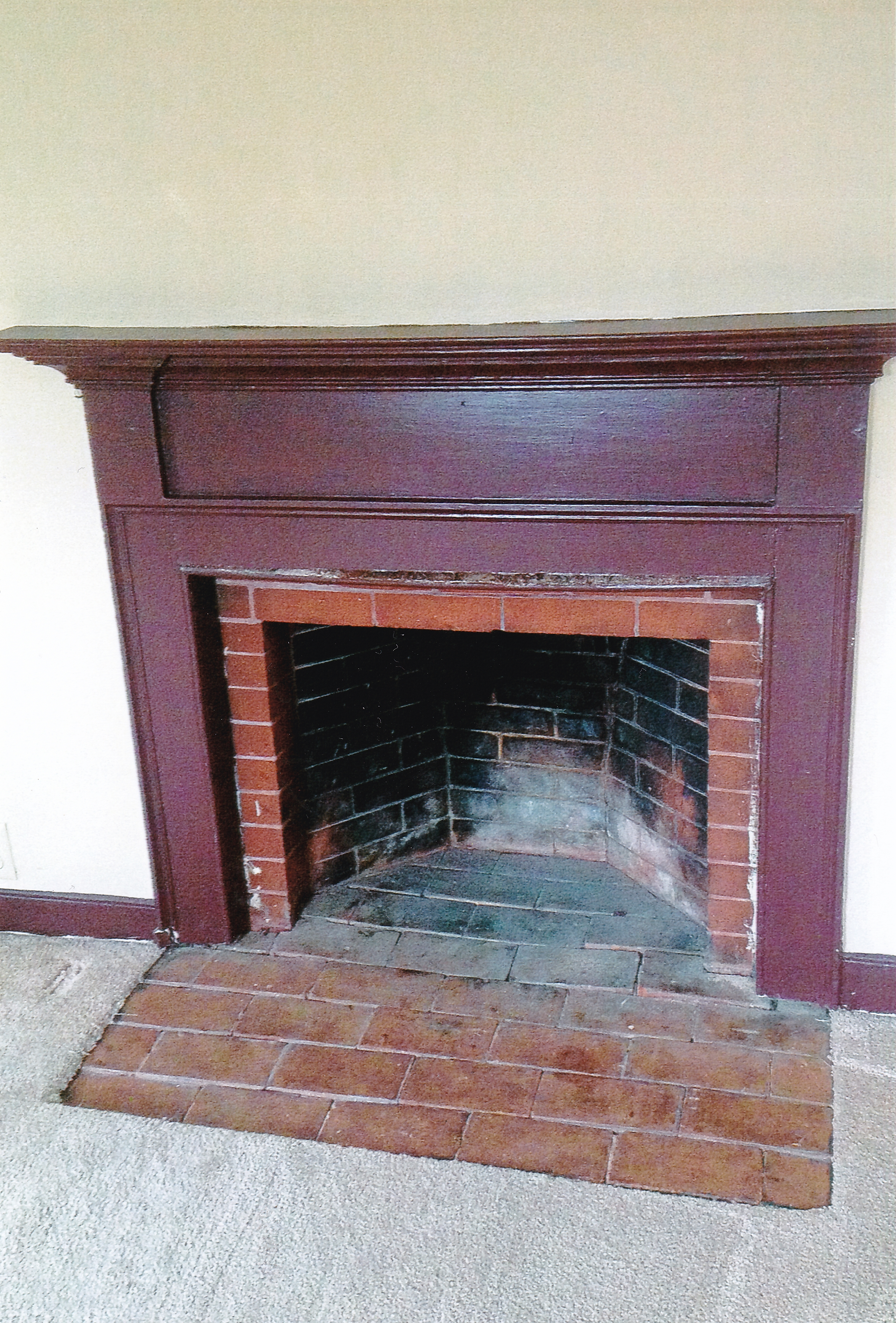 Trumbull House - 1756 master bedroom fireplace