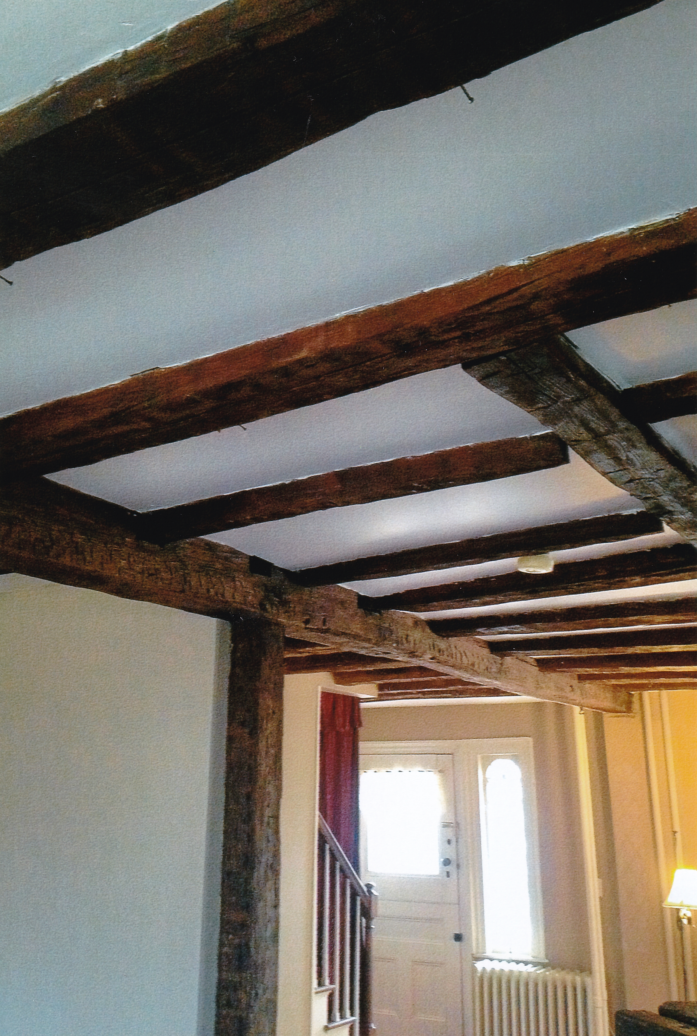 Trumbull House - 2018 - Beams going to front of house and front door