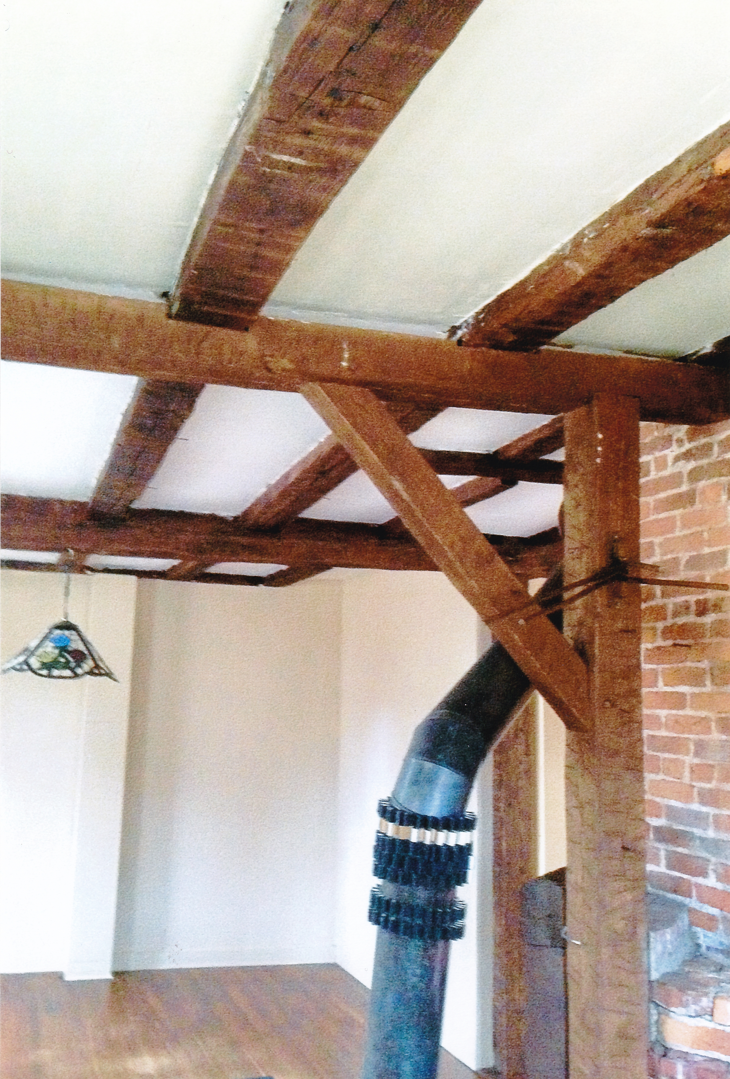 Trumbull House - 2018 - Beams in 1756 portion of house - Dining Room