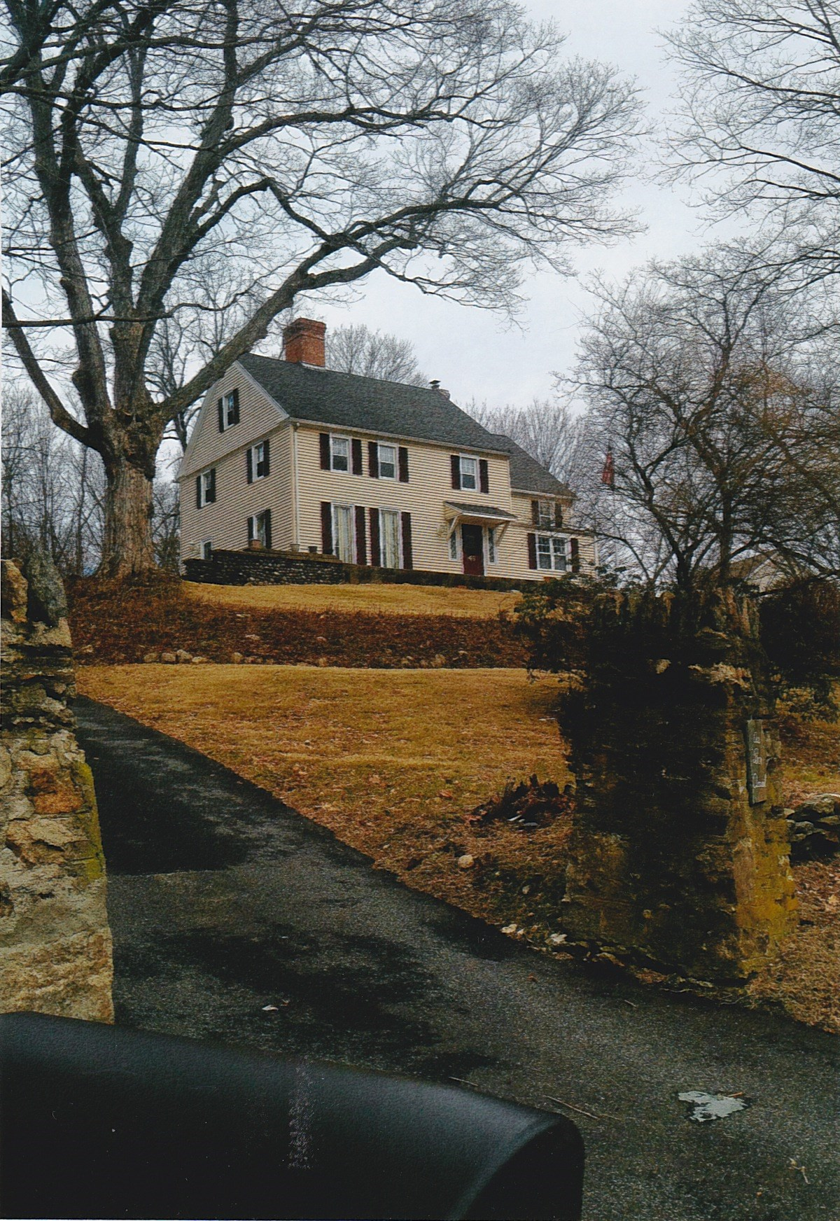 Trumbull House - 2018 - Long Driveway and house - 2018
