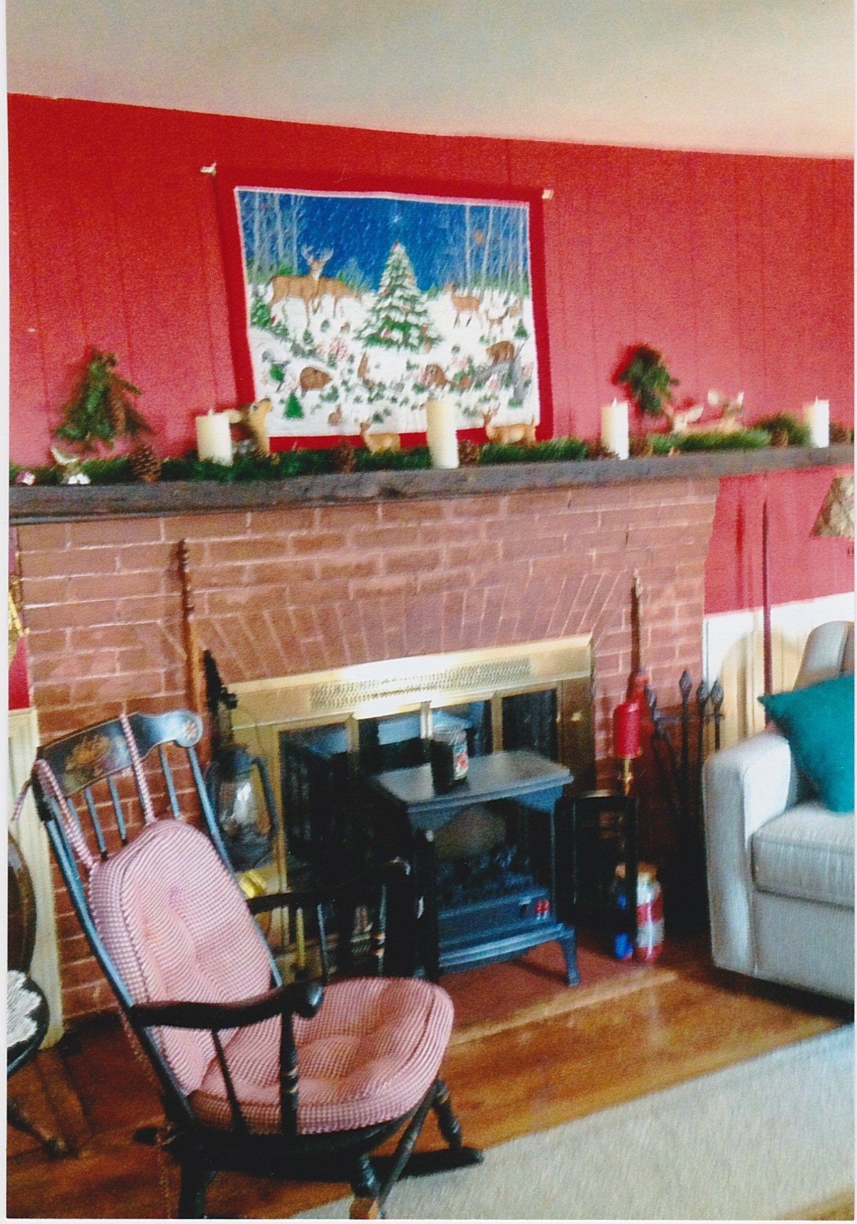 Trumbull House - Living Room fireplace - 1957