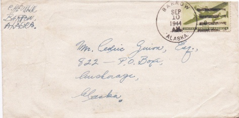 Rusty - envelope to Ced - 3 letters