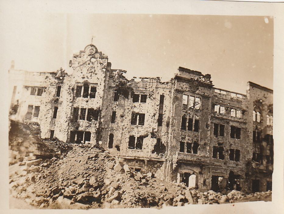 Trumbull - Dave is in Okinawa - (4) Letran College, Manila - June, 1945