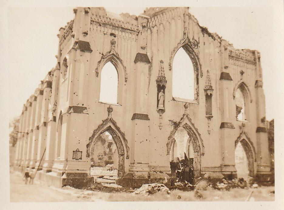 Trumbull - Dave is in Okinawa (4) - Sto. Domingo Church - Manila - June 7, 1945