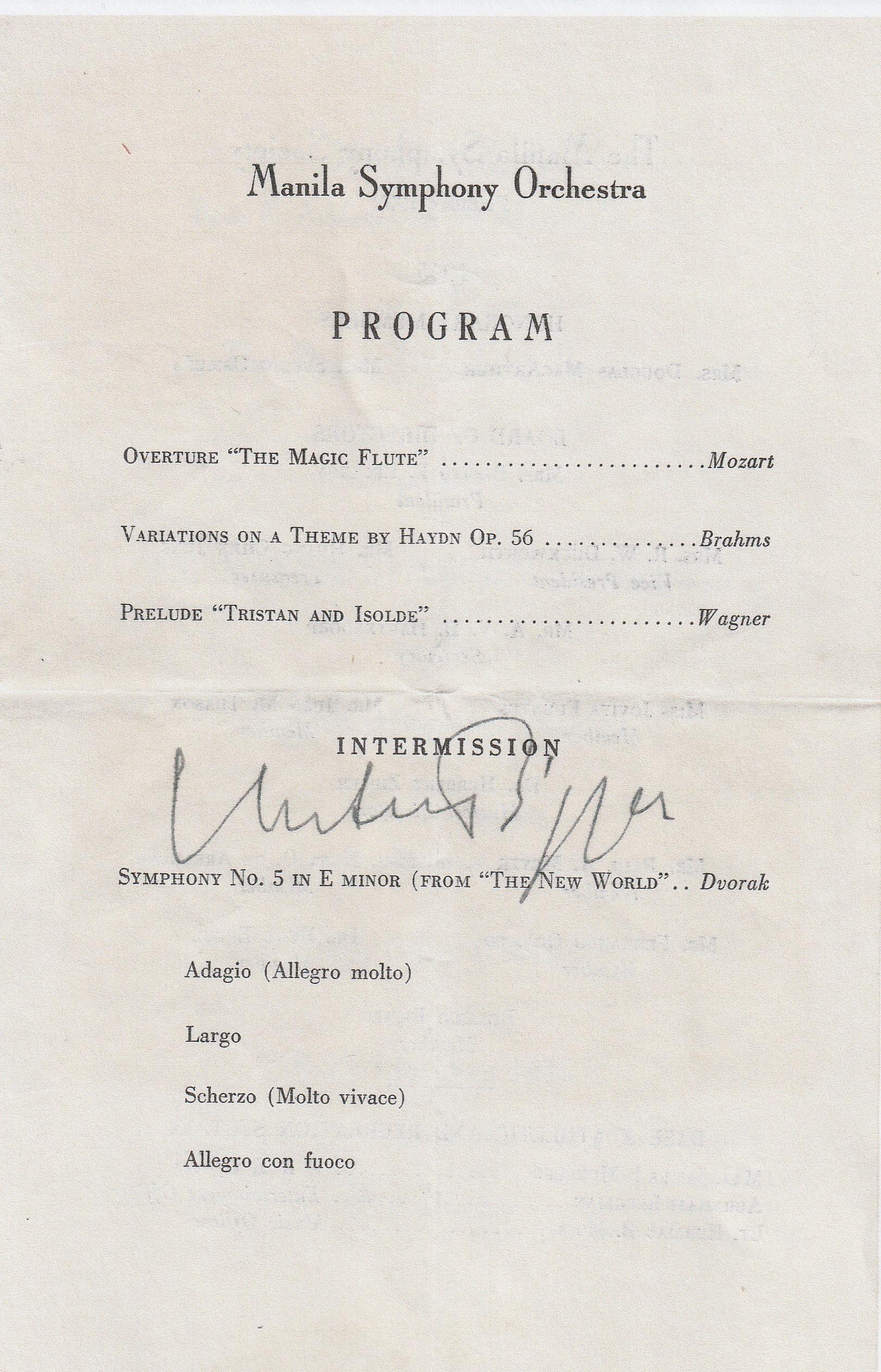 DPG - Manila Symphony Program (3) - October 11, 1945
