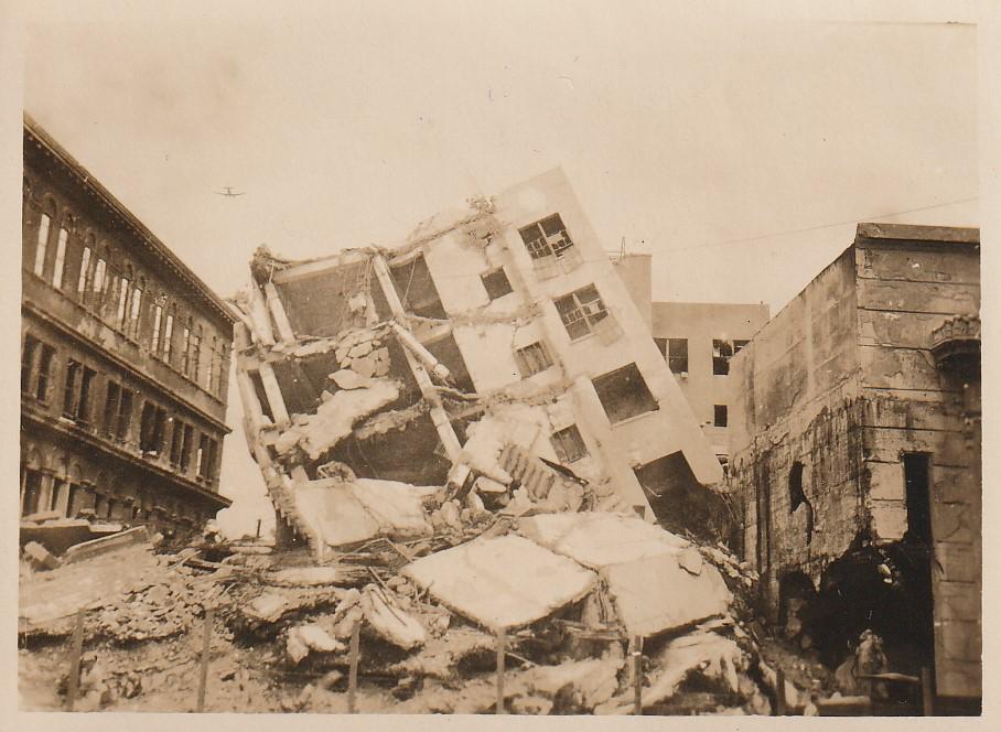 World War II Army Adventure (112) Manila tipped building, Sept. 12, 1945