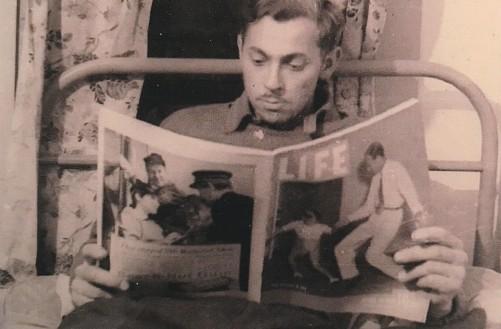 CDG - Alaska - reading LIFE Magazine - August, 1941